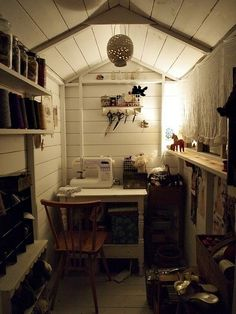Would HAVE to have a craft room with a sewing desk!