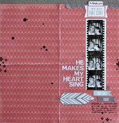 Sharmaine Kruijver- OLW #91: SING // 12x12 scrapbook layout with photobooth strip