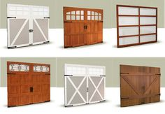 If you haven't looked at garage doors lately, check out the incredible designs available. Carriage house and contemporary designs in wood, steel, composite and even glass. www.clopaydoor.com