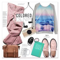 """""""Ootd: colored denim"""" by mycherryblossom ❤ liked on Polyvore featuring Free People, Kate Spade, Happy Jackson, Master & Dynamic, coloredjeans, polyvoreeditorial and polyvorestyle"""