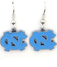 NCAA North Carolina Tar Heels Dangle Earrings