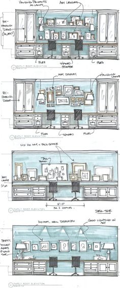 21 trendy home office built ins ikea shelves Ikea Office, Home Office Space, Home Office Design, Home Office Decor, House Design, Design Desk, Desk Office, Office Spaces, Office Built Ins