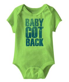 This Key Lime 'Baby Got Back' Bodysuit - Infant is perfect! #zulilyfinds