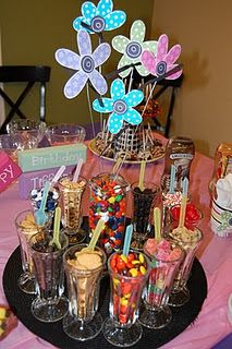 Ice cream sundae bar...Since Grandpa insists on providing the little ones with sugar, might as well do it right.