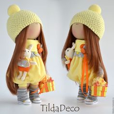 Купить Интерьерная текстильная кукла-девочка Sunny - интерьерная кукла…