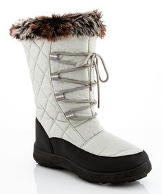 Look at this Gray Quilted Snow Boot on #zulily today!