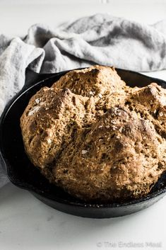 Whole Wheat Irish Soda Bread is a breeze to make and so delicious. If you have 5 minutes to spare you can whip up a batch and sit back while it bakes and fills your house with the smell of fresh baked bread.   theendlessmeal.com