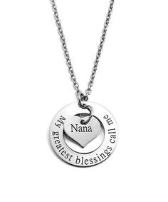 This Stainless Steel Personalized 'Nana' Washer Pendant Necklace is perfect! #zulilyfinds