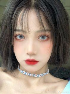 Makeup Korean Style, Korean Eye Makeup, Asian Makeup, Cute Makeup, Beauty Makeup, Makeup Looks, Hair Makeup, Aesthetic Hair, Aesthetic Makeup