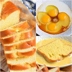 This is the best French Toast recipe and so easy. This classic recipe features sweet egg-soaked Brioche bread and served with your favorite toppings. Breakfast Toast, Breakfast Dishes, Breakfast Recipes, Breakfast Items, French Bread French Toast, Best French Toast, Cooking Time, Cooking Recipes, Bread Recipes