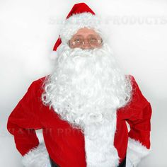 Long #white father christmas santa claus wig & #beard christmas xmas fancy #dress,  View more on the LINK: 	http://www.zeppy.io/product/gb/2/391121135817/