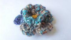 Blue Noro 6 Petals Flower  Boutonnière/Lapel by Kenboutonniere