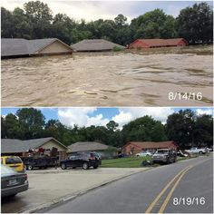 If y'all want a perspective of how bad the flooding was here in Louisiana this picture just about sums it up. [Re-uploaded. Other post was removed] Louisiana Flooding, Missing Home, Mother Nature, New Orleans, Perspective, The Neighbourhood, How To Remove, Places, Pictures
