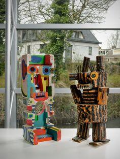 Figures by Karl Appel Modern Art, Contemporary Art, Cobra Art, Art Informel, 7th Grade Art, Organic Art, Macabre Art, Art Brut, Dutch Artists