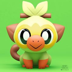 Tagged with pokemon, fanart, pokemon fan art, grookey, pokemonswordshield;