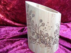 Utensil holder by on Etsy Fresh Flowers, Dried Flowers, Utensil Holder, Cooking Utensils, Pyrography, Spoons, Mason Jars, Etsy, Design