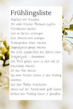 Frühlingsliste, Was wir im Frühling alles machen wollen, To-do-Liste Frühling, Bucket List Frühling, Liste mit schönen Unternehmungen, Liste für Kinder im Frühling, Was tun im Frühling?, Hallo Frühling, Liste für den Frühling