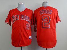 32c1b0f60 MLB Los Angeles Angels 2 aybar Red 2015 Jerseys