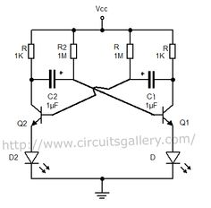 Astable Multivibrator using transistors - Transistorised Circuit wave form and operation - Circuits Gallery