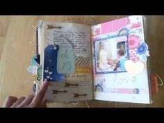 happy little moments by todido | altered book project | scrapbooking - YouTube