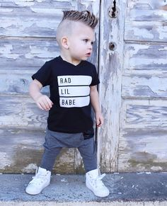 RAD BABE T-Shirt, Bamboo Harems, Bamboo Leggings, Baby Leggings, Faux Leather, Trendy Baby Clothes, Hipster Baby Clothes, Streetwear, Kids Fashion