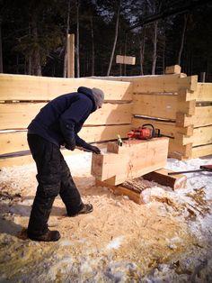 hirsh log homes Log Cabin Plans, Log Cabin Homes, Log Cabins, Timber Frame Homes, Mountain Living, Post And Beam, Dream Homes, Ontario, Life Is Good