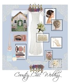 """""""Country Chic Wedding"""" by onesweetthing on Polyvore featuring Phase Eight, Gianvito Rossi, Kate Spade, Wedding Belles New York, Sola, Charlotte Tilbury, Oscar de la Renta, Christian Louboutin, Williams-Sonoma and Abigail Ahern"""