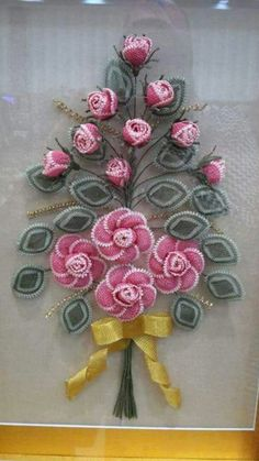 Alıntı Needle Lace, Beads And Wire, Diy Flowers, Pretty In Pink, Elsa, Beaded Jewelry, Diy And Crafts, Christmas Wreaths, Crochet Earrings
