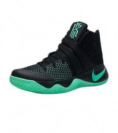 NIKE Kyrie Irving Men's mid top shoe Lace up closure Green Glow accented NIKE swoosh logo branding d. Adidas Basketball Shoes, Sports Shoes, Basketball Games, Xavier Basketball, Basketball Stuff, Basketball Shooting, Volleyball Shoes, Basketball Uniforms, Men's Shoes