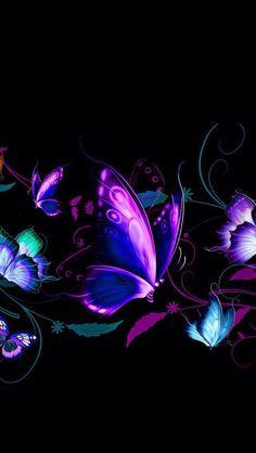 Risultati immagini per butterfly art beautiful Love Wallpaper, Galaxy Wallpaper, Wallpaper Backgrounds, Beautiful Wallpaper, Pattern Wallpaper, Purple Butterfly Wallpaper, Butterfly Art, Butterfly Background, Butterfly Painting