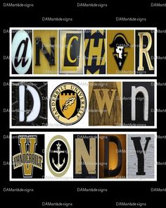 Vanderbilt University Framed Alphabet Photo Art by DAMartndesigns, $35.00