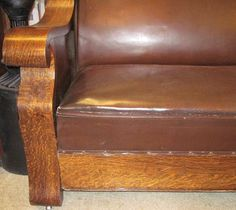 Antique Hide A Bed Sofa Empire Mission Oak Style