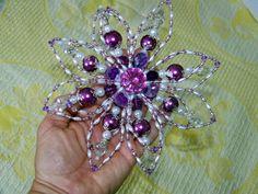 Beaded Christmas Flower Ornament