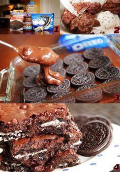 Cookies 'N Cream Oreo Fudge Brownies   recipe here ==> http://lovecookeat.com/cookies-n-cream-oreo-fudge-brownies/