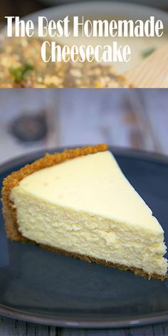 The Best Homemade Cheesecake get the secret for the lightest and fluffiest cheesecake ever! The post The Best Homemade Cheesecake get the secret for the lightest and fluffiest che appeared first on Dessert Platinum. Easy Vanilla Cake Recipe, Chocolate Cake Recipe Easy, Baked Cheesecake Recipe, Best Cheesecake, Classic Cheesecake, Chocolate Cookie Recipes, Plain Cheesecake, How To Make Cheesecake, Cheesecake Bites