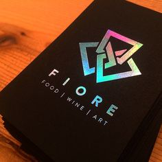 Holographic Foiled Business Cards on Behance More