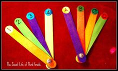 Multiple choice sticks I made! Inspired by The Sweet Life of Third Grade. This is another idea I will definitely be doing!
