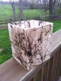 HORSE HAIR POTTERY Vase HorseHair  Square by DonovanDesignsArt, $25.00