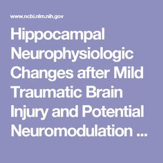 Hippocampal Neurophysiologic Changes after Mild Traumatic Brain Injury and Potential Neuromodulation Treatment Approaches