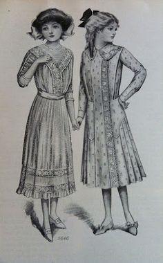 1910 Girls Dresses - good ideas for school girl townspeople