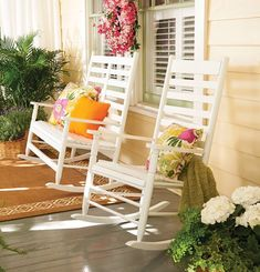 Reminisce about old times or just enjoy the view from your front porch in the Seabrooke Rocker or Double Rocker. These charming chairs are the perfect addition to any front porch, patio, or garden. There's just something about sipping a lemonade while rocking on a front porch!
