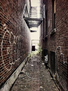 Back alley in Harvard Square