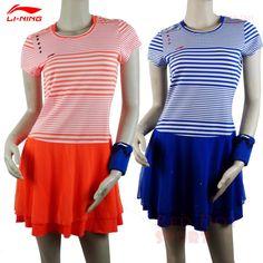 2015 Sudirman  Cup Lining Badminton CHINA National Team Race suit  ② Stripe design Women Badminton Sport Dress ASKK0522015 Sudirman Cup Lining Badminton CHINA National Team Race suit Stripe design Women Badminton Sport Dress ASKK052
