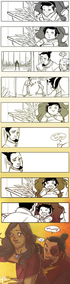 Morning Baby by *Pugletz on deviantART - Not a Zutara shipper, but this is adorable :)