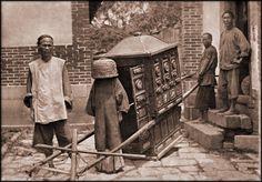 Bride on her way to wedding, Fuzhou, Fujian, China, ca. 1910s