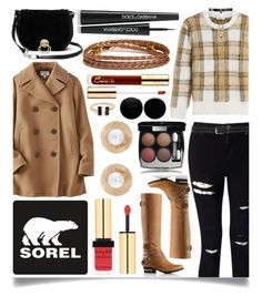 """""""Kick Up the Leaves (Stylishly) With SOREL: CONTEST ENTRY"""" by ittie-kittie ❤ liked on Polyvore featuring SOREL, Miss Selfridge, Closed, Uniqlo, Diane Von Furstenberg, Chanel, Yves Saint Laurent, Dolce&Gabbana, Oscar de la Renta and Half United"""
