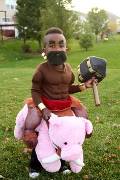 Our little Clash of Clans Hog Rider 2014 costume