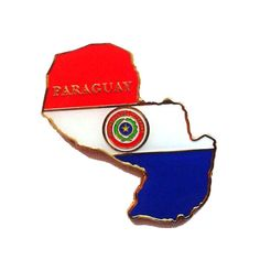 Paraguay  map metal fridge magnet