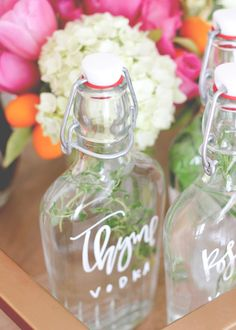 Herbaceous Entertaining — Caldrea Notes. Infused vodka