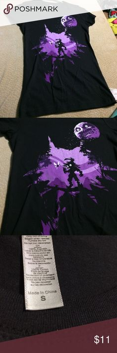 Purple/Black Zelda shirt Purple and black Zelda shirt. Brand new. No tags, it was a gift. (Too small for me) Tops Tees - Short Sleeve